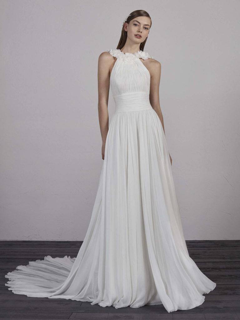 Vestido de novia de bámbula