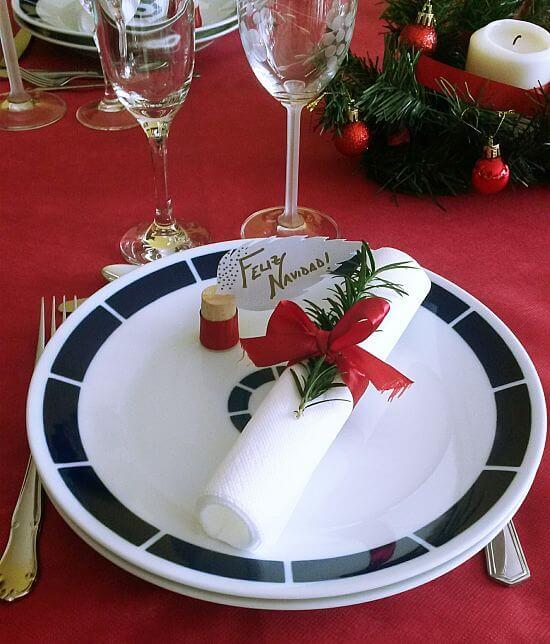 Servilletero de Navidad