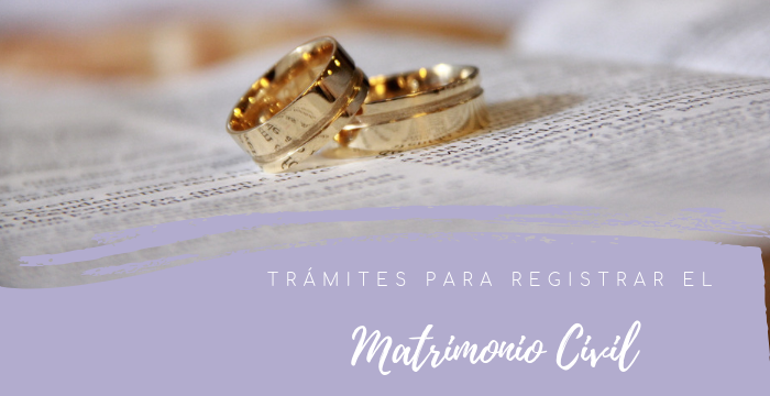 Trámites para el matrimonio civil