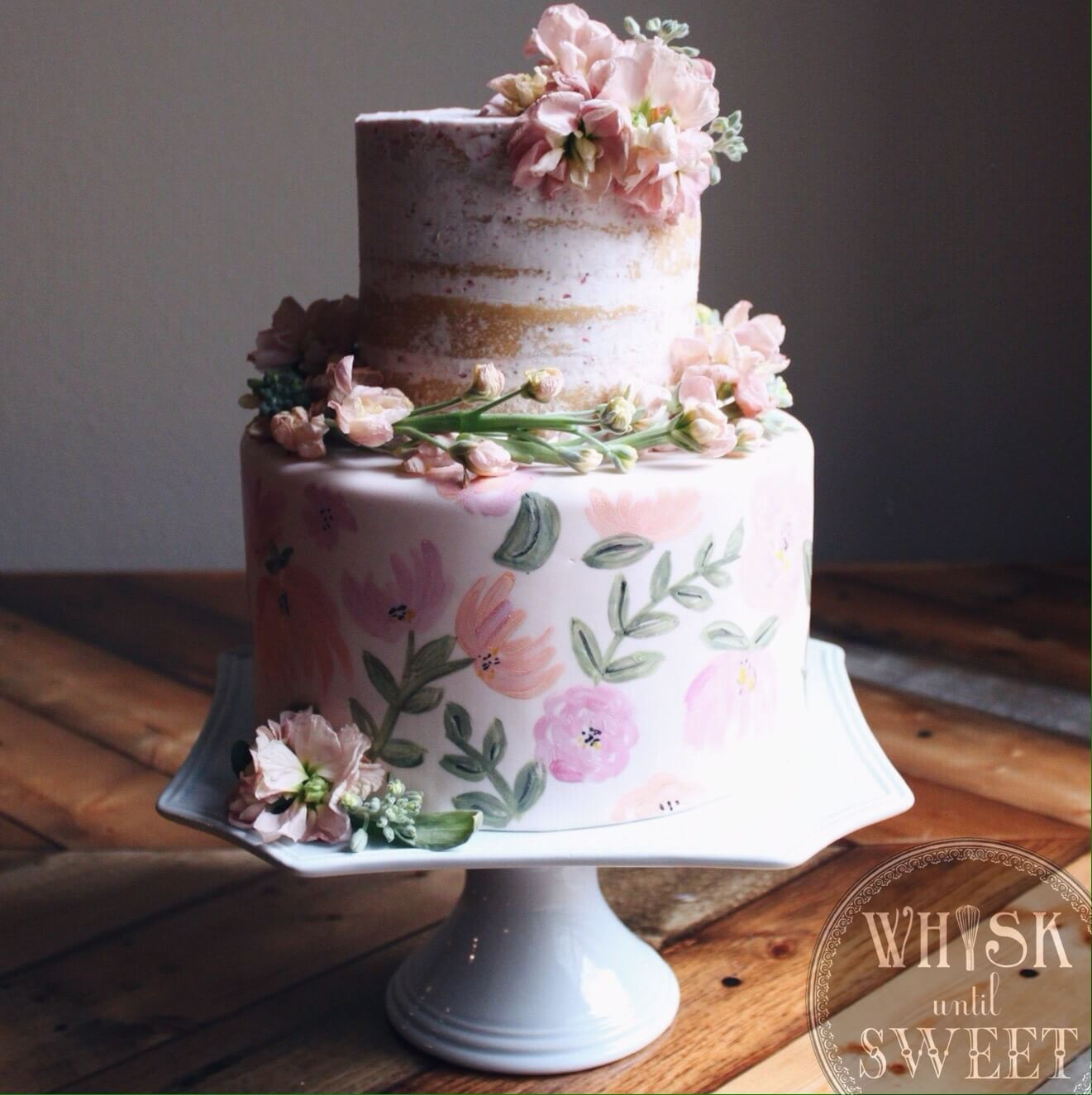Tarta lienzo y naked cake