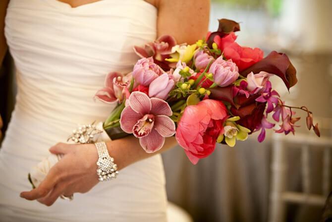 Tipos de ramo de novia: De presentación