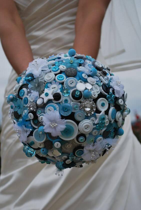 Ramo de novia de botones
