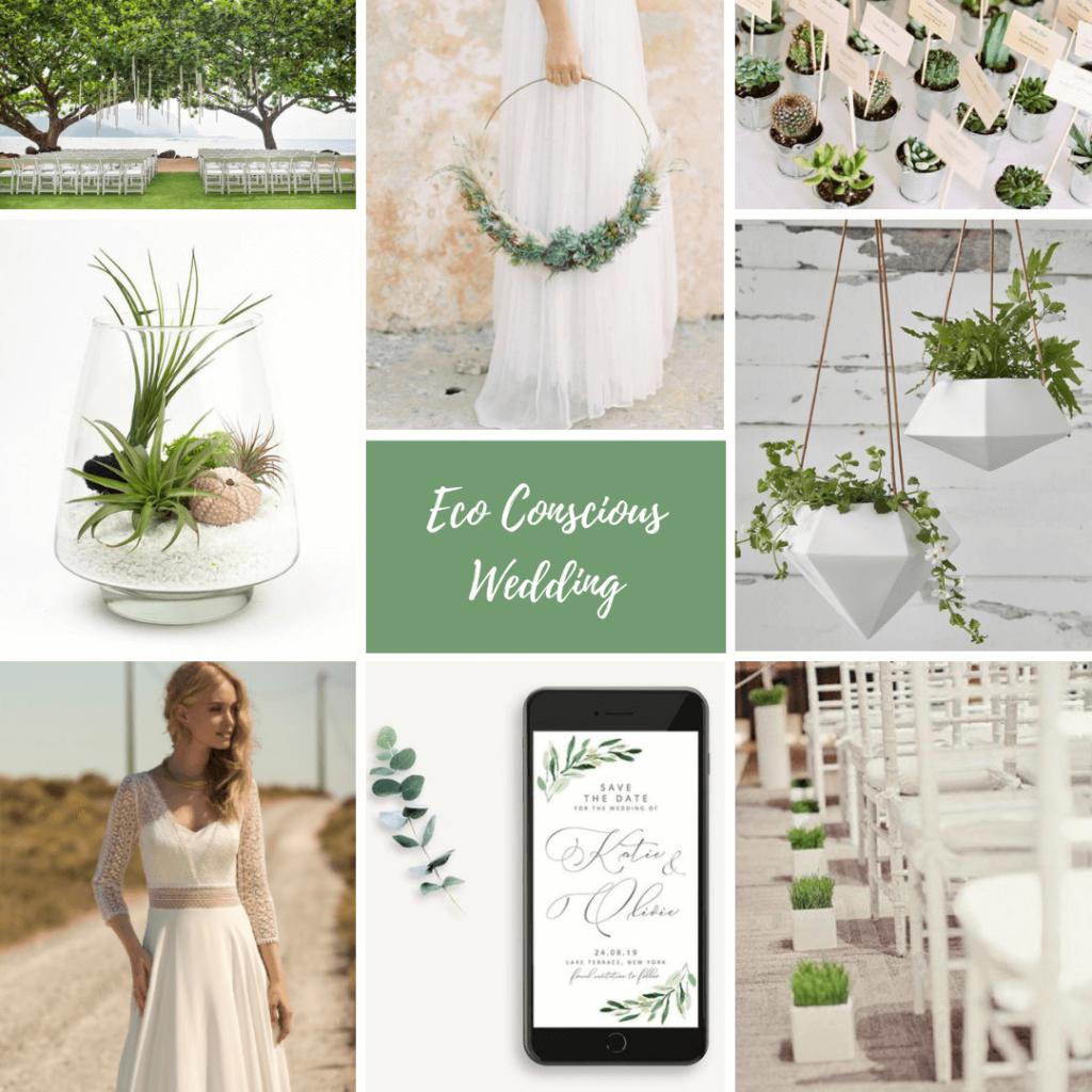 Inspiración para una boda minimalista respetuosa con el medio ambiente