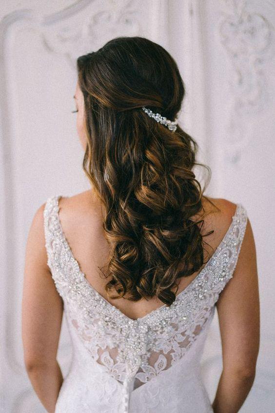 Peinado de moda para novias 2019