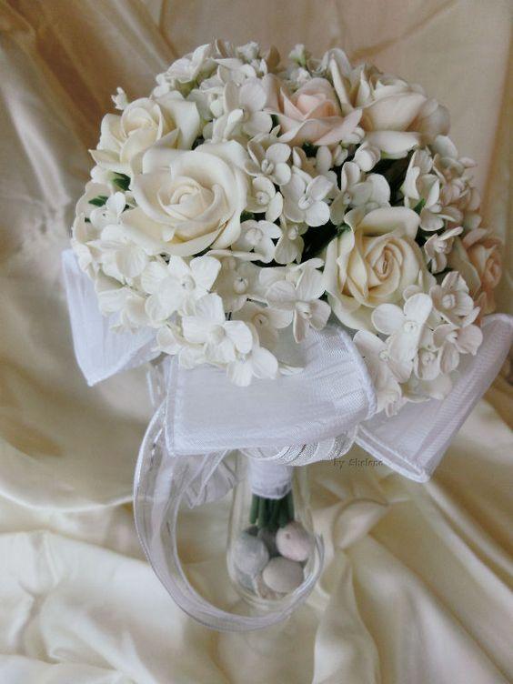Ramo de novia de cerámica